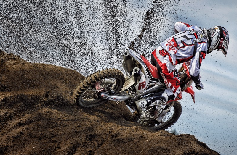 Tough day in the sand for Team HRC