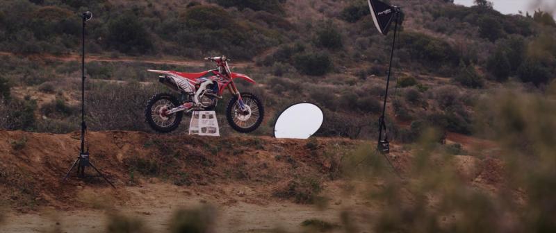 Behind the scenes at the Team HRC pre-season shoot