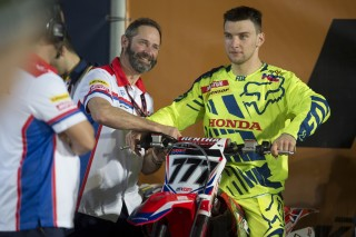 Evgeny Bobryshev and mechanic Dominique Alleaume