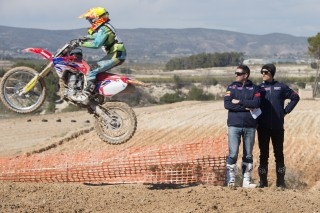 Paulin and Bayle giving guidance to the young riders