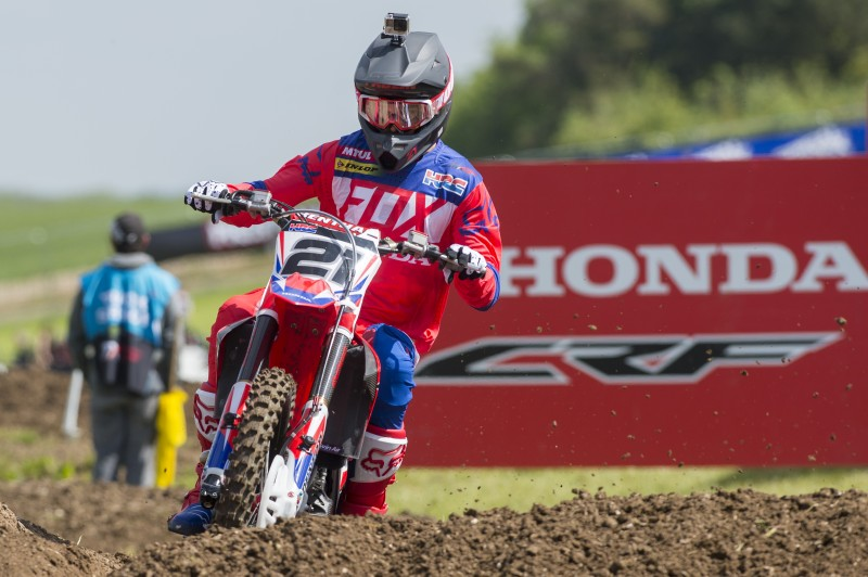 Paulin third in qualifying for MXGP of GB