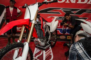 The 2016 CRF450R and the media