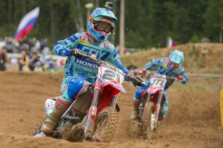 Gautier Paulin and Evgeny Bobryshev in Latvia