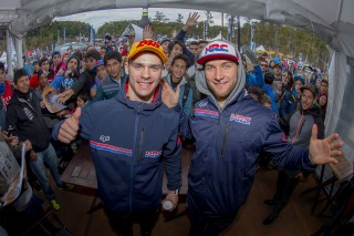 Evgeny Bobryshev and Tim Gajser in Argentina