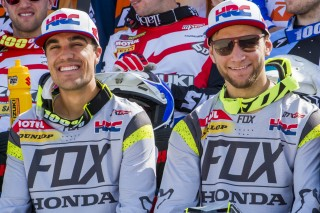 Team HRC's Gautier Paulin and Evgeny Bobryshev