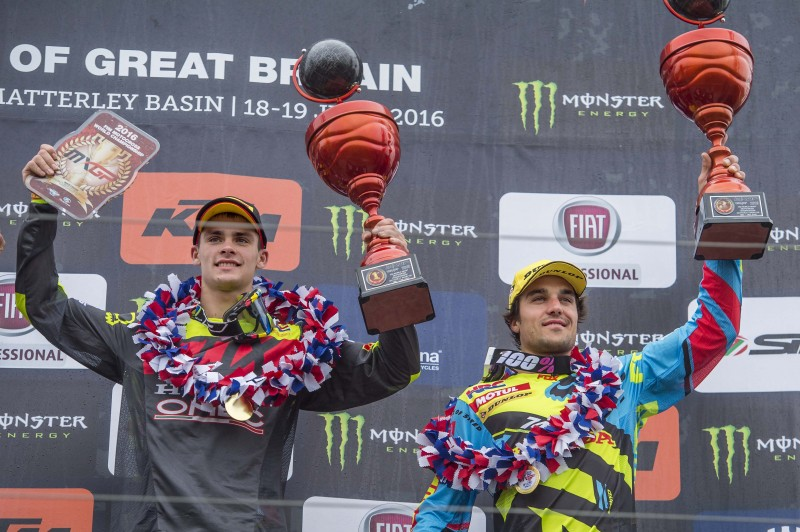 Paulin and Gajser make double Honda podium in UK