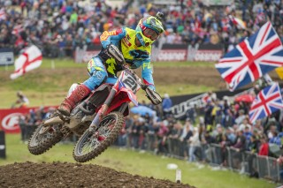 Gautier Paulin on the podium in the UK