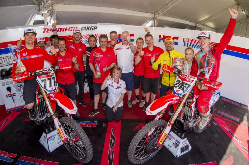 Podium double and championship lead for team HRC MXGP