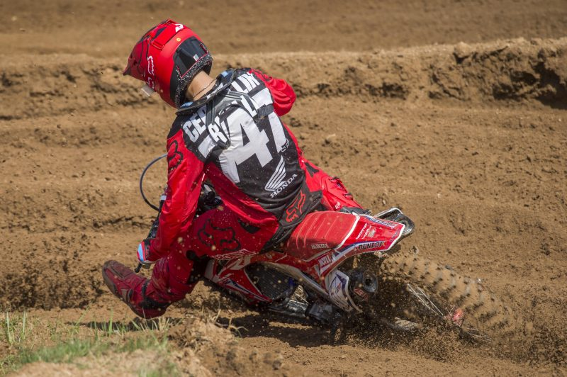 Team HRC MX2 on fighting form