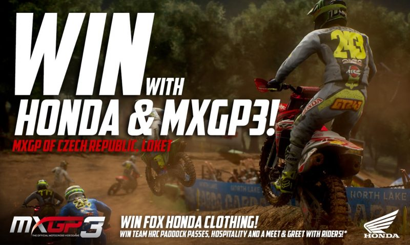 Honda connects virtual and reality: play MXGP3 – The Official Motocross Videogame and win!