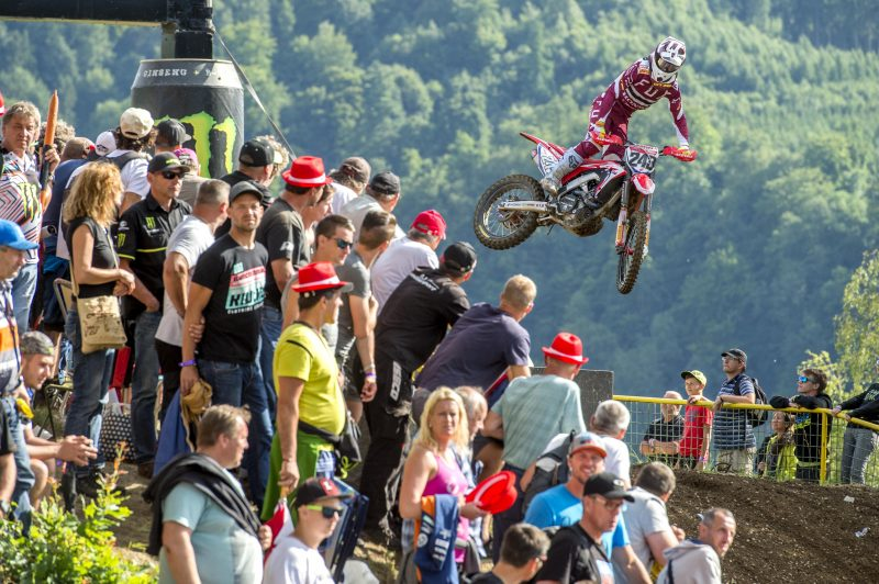 Gajser is back on the podium in Loket