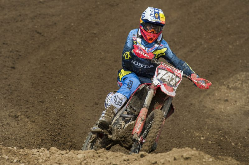 HRC MX2 get ready to do battle in the brutal Belgium sands