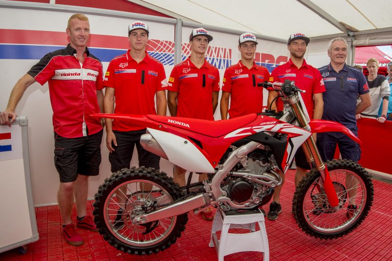 Honda's factory team unveil 2018 Honda CRF250R at MXGP of Belgium