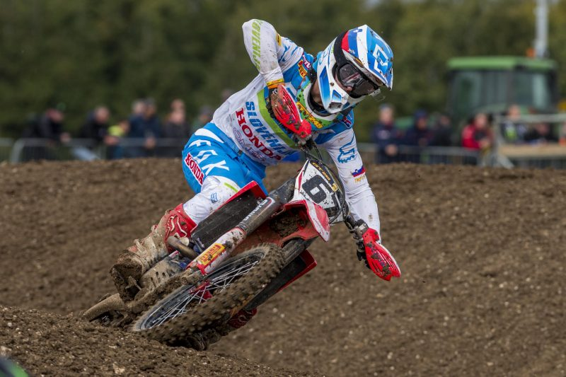 Gajser takes the win in the MXGP class at the Motocross of Nations