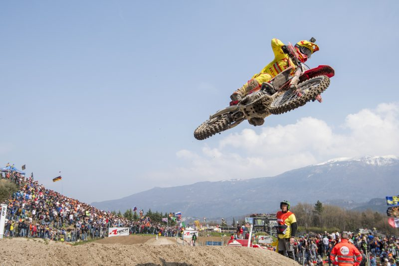Gajser builds momentum with top-5 result in race one in Trentino