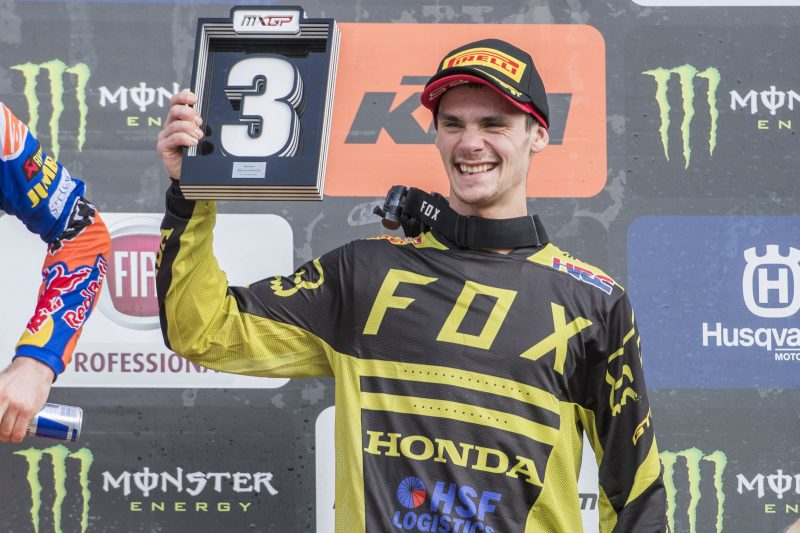 Maiden podium of the season for Team HRC and Tim Gajser
