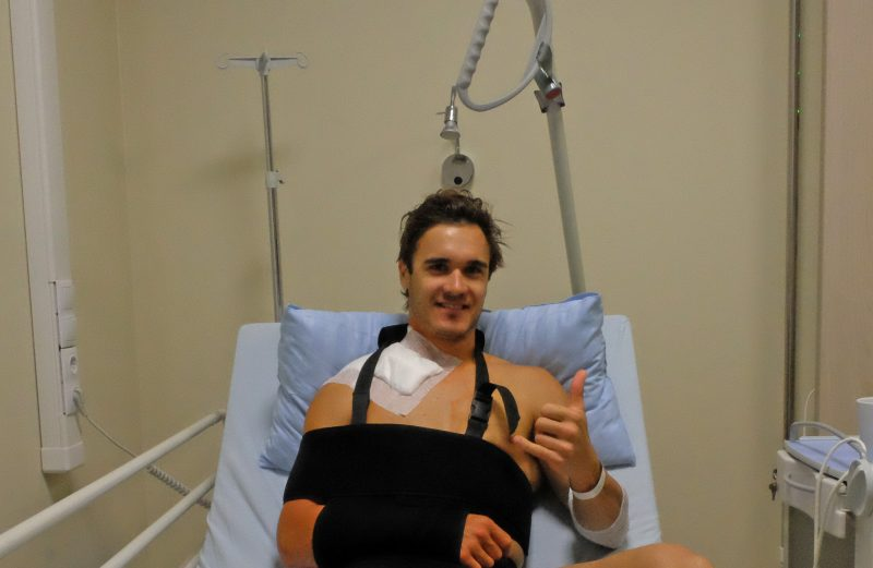 Todd Waters undergoes successful collarbone surgery