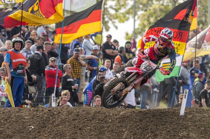 Strong second place overall for Gajser and Team HRC in Germany