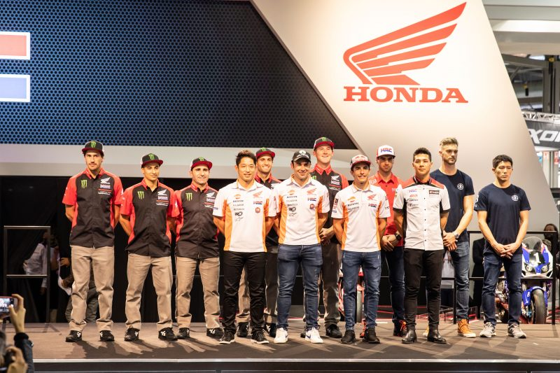 Team HRC's Brian Bogers joins HRC's riders from MotoGP, Rally and Trial at EICMA