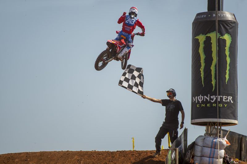 Record breaking Gajser wins seventh MXGP in a row