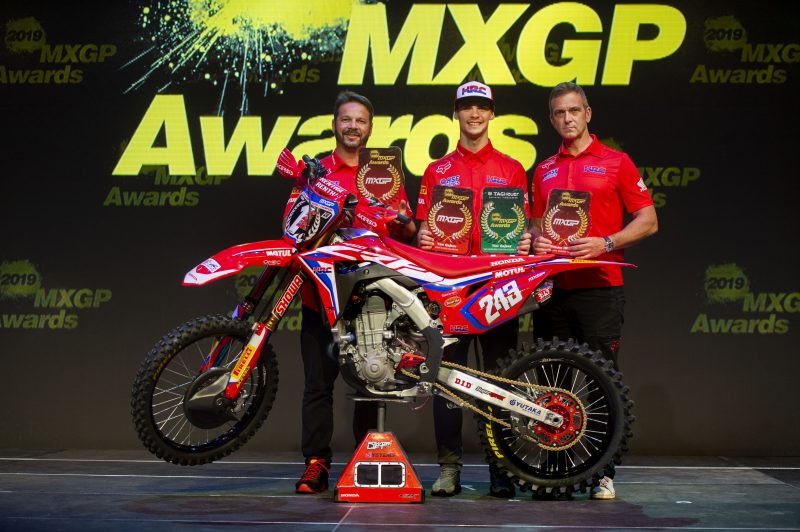 Team HRC lead the way at MXGP Awards Ceremony