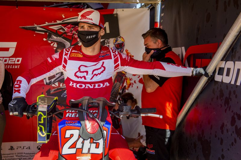 Red plate holder Gajser is ready for the deep sands of Lommel