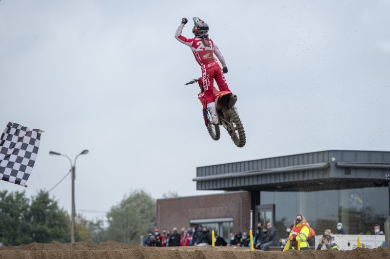 Dominant Gajser wins MXGP of Flanders and doubles championship points lead